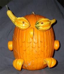 Owl Pumpkin by Angelinhel