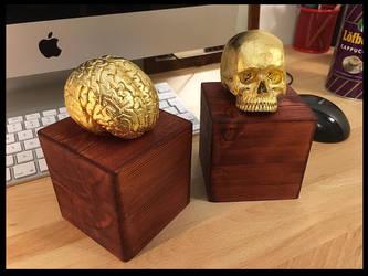 Sculpture brain skull by redtrackz
