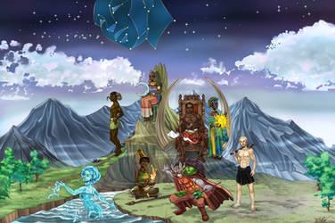 Chukwu and the Alusi by Ikechi1