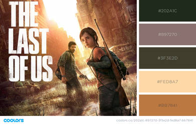 the last of us colour pallette by BachLynn23