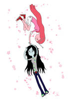Marceline and Bubblegum by elyon-van-marie