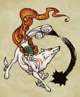 OKAMI -oekaki- by Jacinthe
