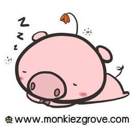 Sleepy Piglet by bananasjuice