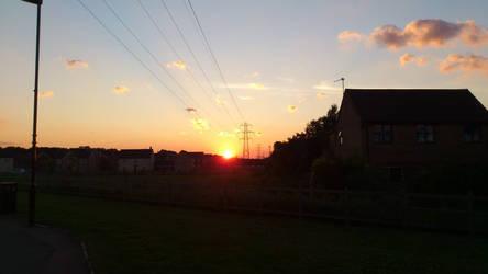 Sunset Over Suburbia by frYkI