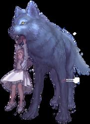 Wolf Friend by BloodlineV
