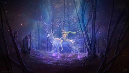 The White Deer by Matkraken