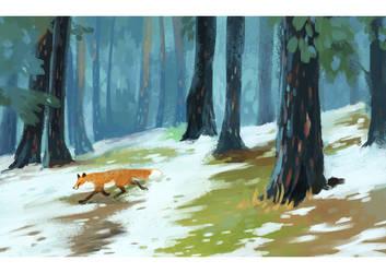 Snow Fox by Singarl