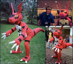 Guilmon Costume 2.0 by Chromamancer