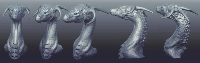 3D Dragon Sculpt by Chromamancer