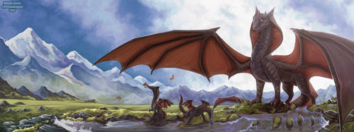 Dragon Ridge (Collab) by Chromamancer