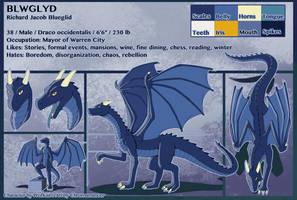 Bluegild Ref Sheet by Chromamancer