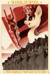 Pony propaganda by Imalou