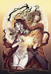 Erasel and Rahhel by stkosen
