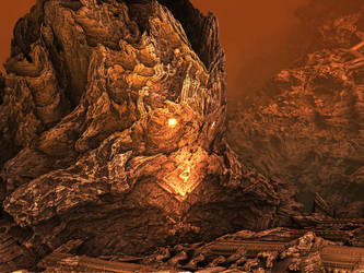 The Titan and the Skull Mountain by mandelbulbdotfr