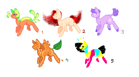 MS Paint pony adoptables - CLOSED by Puppy-melon