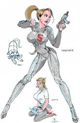 Gyro5 Space Girl Design by stvkar