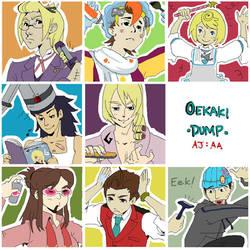 Apollo Justice Crew by amasugiru