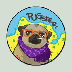 Pugster Button by amasugiru