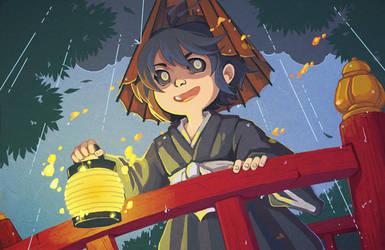 Yokai: Little Rainfall Boy by amasugiru