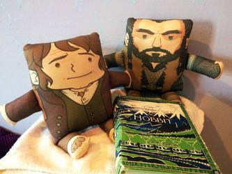 Hobbit Pillow Plushies by amasugiru