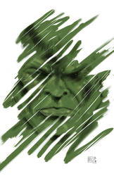 A quick digital painting of Marvel's Hulk. by joriley