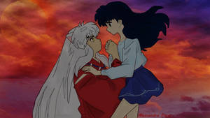 Inuyasha and Kagome, pure love by AlmaChiaraAlex