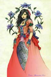 Color: Mauve,-Line-Jasmine-Darnell, Yasa Hime by AlmaChiaraAlex