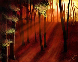 Red Forest by NikSebastian