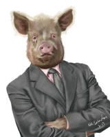 Portrait of a CEO by NikSebastian