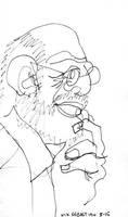 Blind Portrait #16 - Oliver Sacks by NikSebastian
