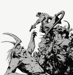 Hellboy Art by SavoryBaconist