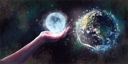 A Hand In The Sky (v.1) by BlazingFireBug