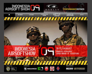indo airsoft show web design by njart