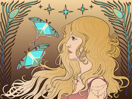 Luna. Moths. by AimOfDestiny