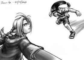 FMA+Naruto - Edward VS Neji by Aukum