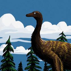 Ornithomimosaur by PLASTOSPLEEN