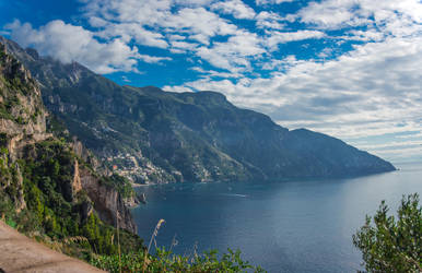 Overlooking Positano by Thrakki