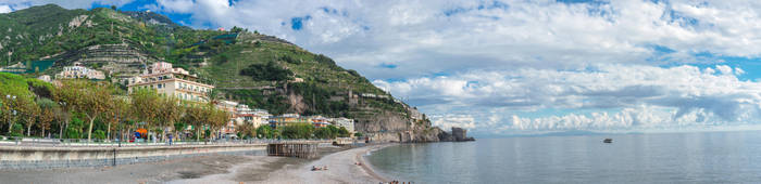 Terraced Mountains of Amalfi by Thrakki