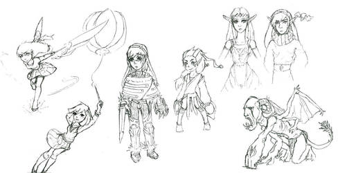 Sketch Compilation 2 by fiyapheonix
