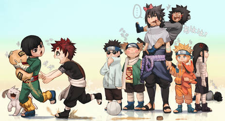 Sasuke the Babysitter by Uzucake