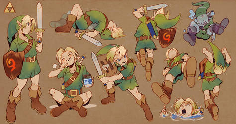 Young Link by Uzucake