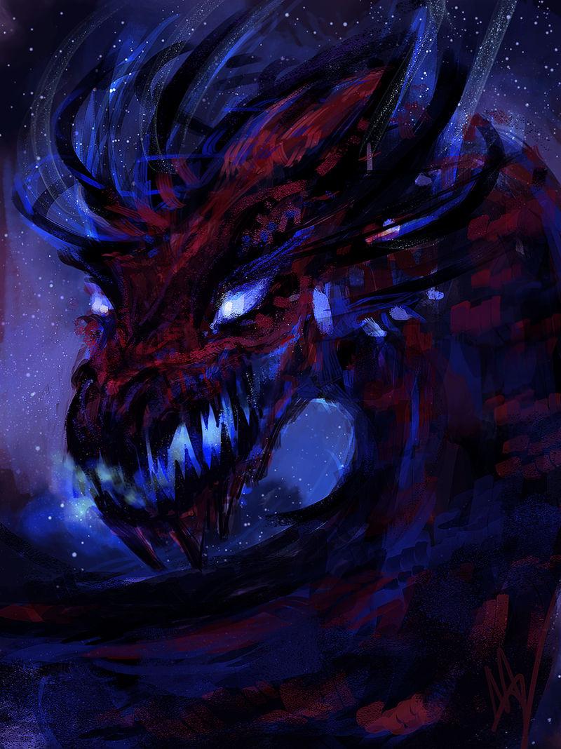 sketchy space dragon by silentlights
