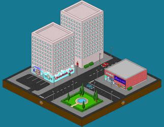 PixelCity DownTown by lingobar