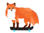 Skate Fox Transparent by HyperHair