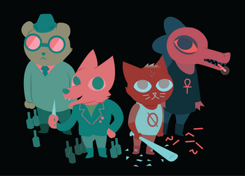 Night in the Woods Poster by HyperHair