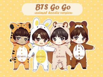 BTS Vocal Line Go Go Animal Onesies  + Speedpaint by Riukkii