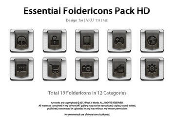 Essential FolderIcons Pack HD by jays838