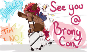 I'm going to BronyCon! by Ruefers