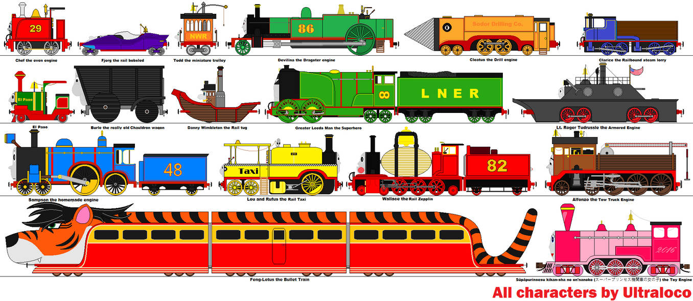 Rejected Thomas And Friends Characters By Ultraloco On Deviantart