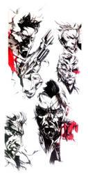 Metal gear - fan art2 by StefanoMassella